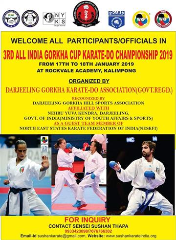 3rd All India Gorkha Cup Karate Do Championship 2019