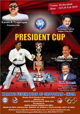 President Cup All India Open Karate Championship 2019